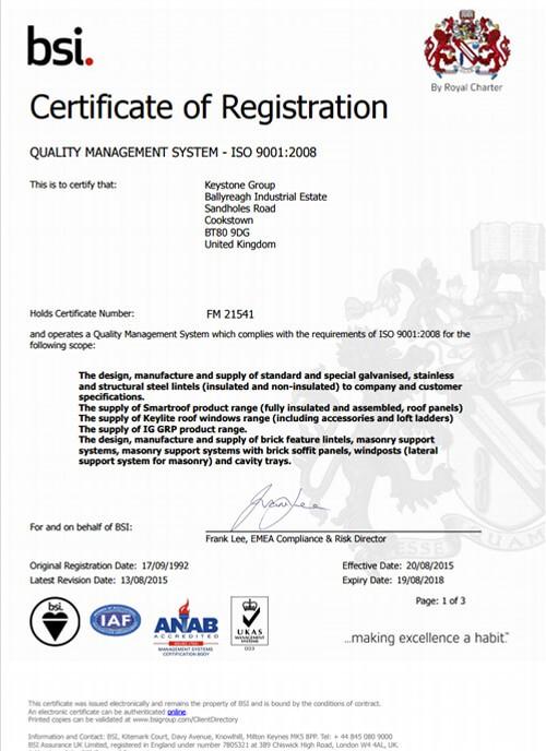 BSI 21541 Certificate
