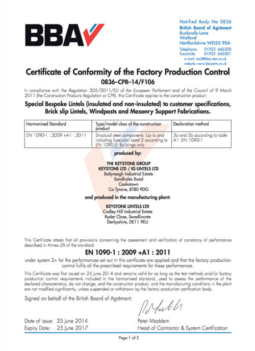 CE Mark Certificate Swadlincote
