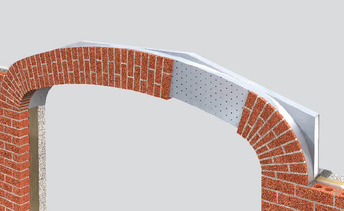 Parabolic Arch Brick Feature Lintel