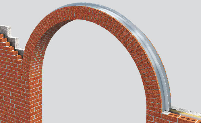 Semi Circle Arch Brick Feature Lintel