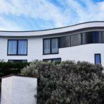 curved window, modern architecture keystone lintels
