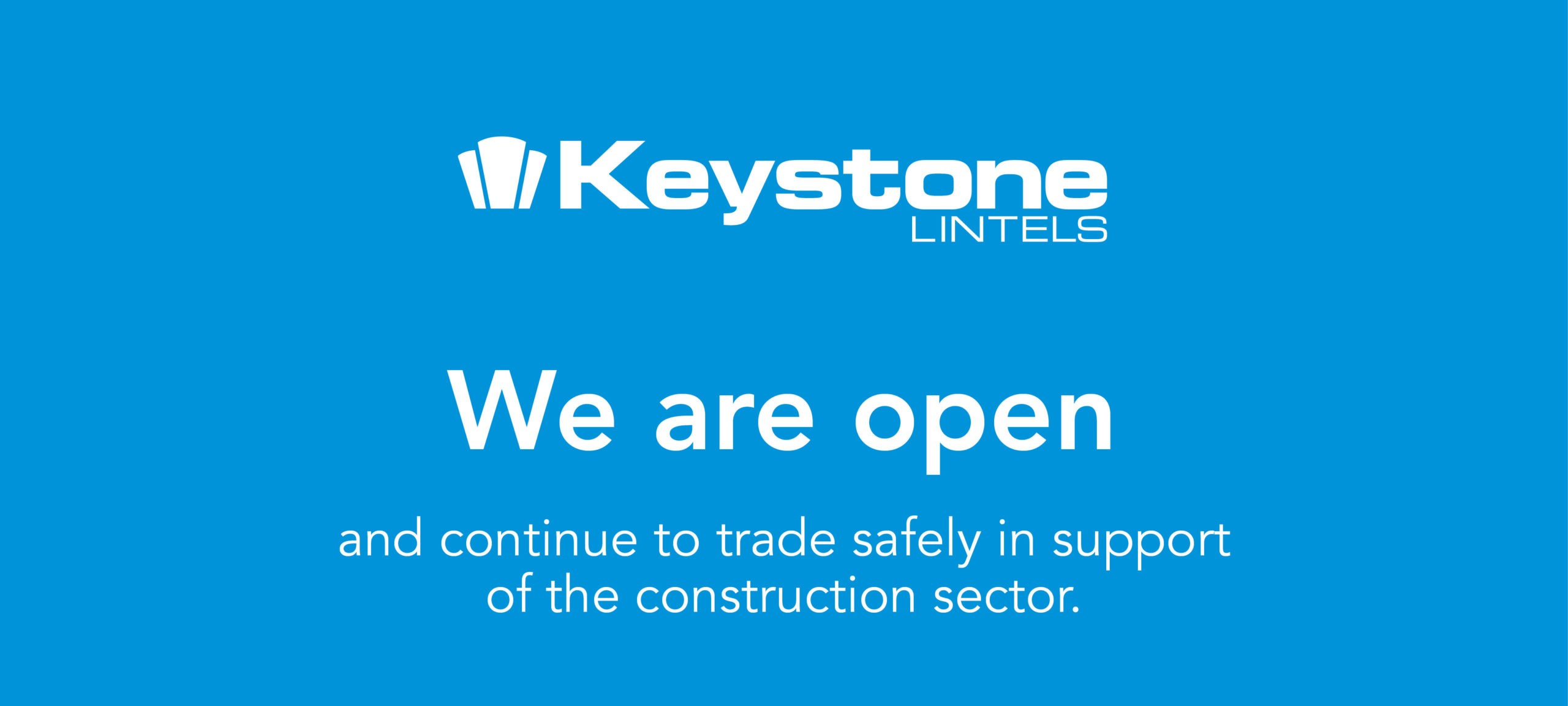 we are open and will continue to trade safely