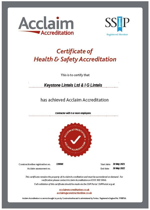 Constructionline Certificate of Health & Safety Accreditation
